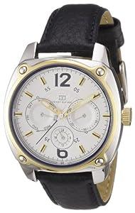 Tommy Hilfiger 1780869 TH WTCH - Reloj analógico de caballero de cuarzo con correa de piel negra - sumergible a 30 metros