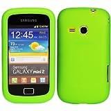 Luxburg® In-Colour Design Schutzhülle für Samsung Galaxy Mini 2 GT-S6500 in Farbe Hellgrün / Grün, Hülle Case aus Silikon