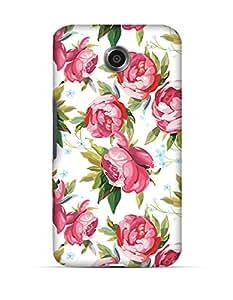 GetASkin Roses On White back case for Note 4