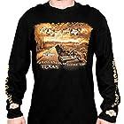 Harley-Davidson Mens Texas So Many Roads Long Sleeve Black T-Shirt - XL