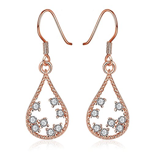 Platinum or Gold Plated Sterling Silver Earrings Cubic Zirconia Stud Earrings Fashion Jewelry