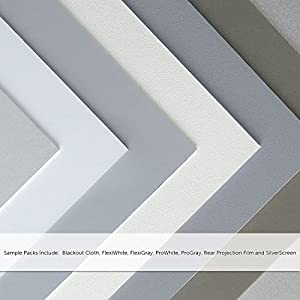 Carl's Sample Pack - Projector Screen Materials (BC, FG, FW, PG, PW, RPF, SS and BFT)