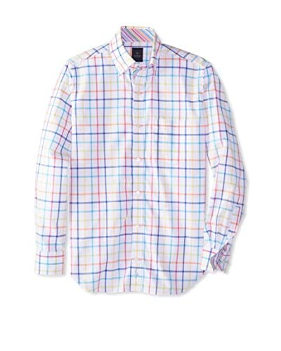 TailorByrd Men's Malibu Long Sleeve Grided Sportshirt