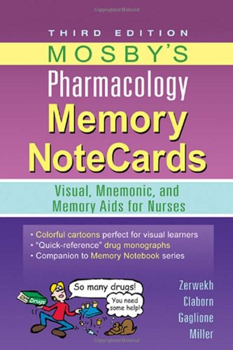 Mosby's Pharmacology Memory NoteCards: Visual, Mnemonic,...