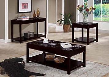 CAPPUCCINO VENEER SOFA TABLE (SIZE: 48L X 18W X 30H)