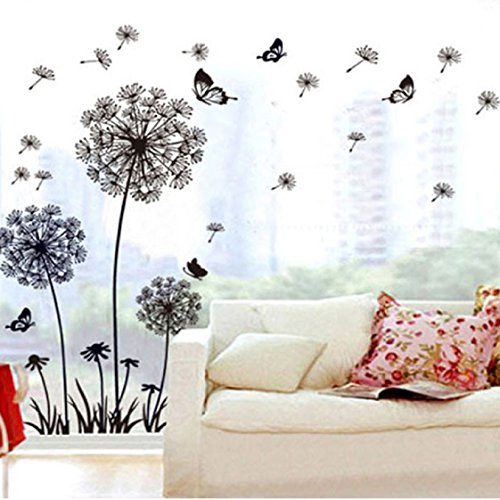 Vovotrade Papillon Creative pissenlit Stickers amovible murale PVC Home Decor