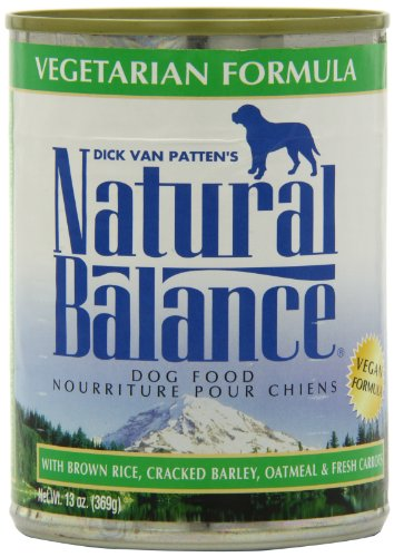 Natural Balance Canned Dog Food, Vegetarian Recipe, 12 x 13 Ounce Pack