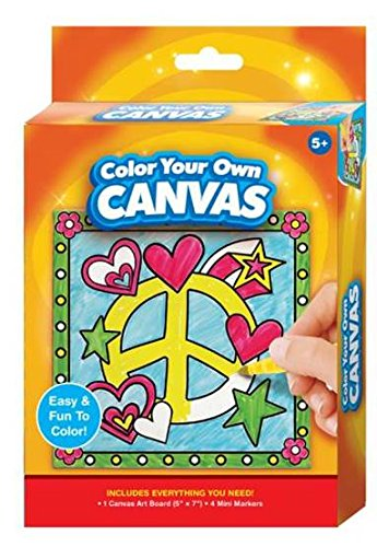 Color Your Own Peace Sign Canvass Kit