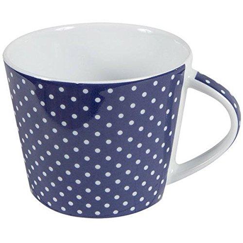 Porzellan Kaffee Tasse Mini Dots Punkte Blau Inhalt 0,2 l Tafelservice Hergestellt in Deutschland, mikrowellensicher, spülmaschinenfest