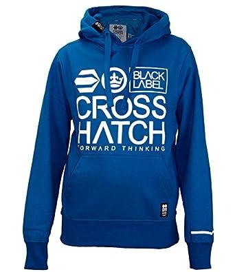 Men Crosshatch Printed Hoodie Acay Mykonos Blue S