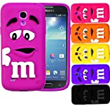 Soft Silicone Rubber Protective M&M Cover Case For Samsung Galaxy S4 MINI I9190 (Orange)