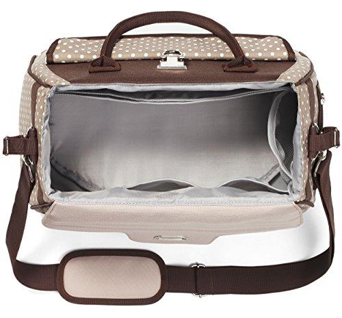 wickeltasche style mit wickelunterlage f r unterwegs kinderwagentasche braun wickeltaschen. Black Bedroom Furniture Sets. Home Design Ideas