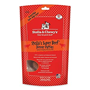Stella & Chewy's Freeze Dried Dog Food for Adult Dogs, Beef Dinner, 15 Ounce Bag 2 pack (with Free Carnivore Crunch Treat)