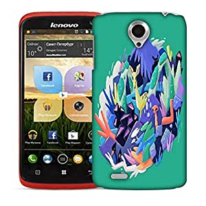 Snoogg Abstract Animal Designer Protective Back Case Cover For LENOVO S820