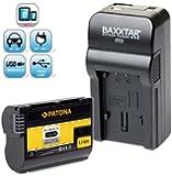 Baxxtar RAZER 600 II Ladegerät 5 in 1 + 1x PATONA Akku für Nikon EN-EL15 passend zu -- Nikon D7000 D7100 D600 D610 D800 Nikon 1 V1 -- NEUHEIT mit Micro-USB Eingang und USB-Ausgang, zum gleichzeitigen Laden eines Drittgerätes (GoPro, iPhone, Tablet, Smartphone..usw.) !!