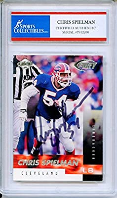 Chris Spielman Autographed Buffalo Bills Encapsulated Trading Card - Certified Authentic