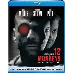 12 Monkeys (1995) Starring: Brad Pitt, Bruce Willis
