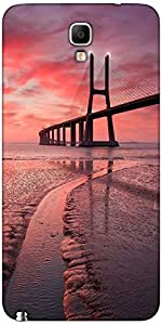 Snoogg Sunset Bridge Case Cover For Samsung Galaxy Note Iii Neo / Note 3 Neo
