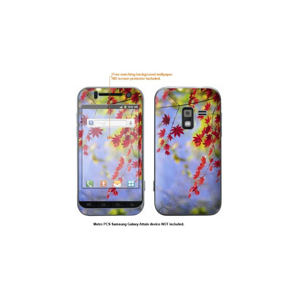 Protective Decal Skin Sticker for Metro PCS Samsung Galaxy Attain 4G case cover Attain 342