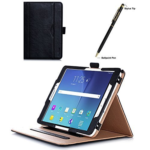 ProCase Samsung Galaxy Tab S2 8.0 Case - Leather Stand Folio Case Cover for 2015 Galaxy Tab S2 Tablet (8.0 inch, SM-T710 T715), with Multiple Viewing angles, auto Sleep/Wake, Document Card Pocket (Black)