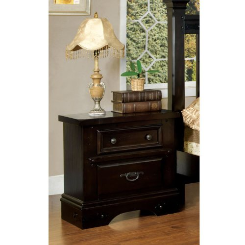 Kerry Country Style Rod Iron Nightstand With Felt-Lined Drawer front-1003758