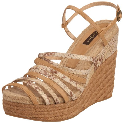 Pepe Jeans London Women's Santa Barbara Wedge Taupe/Python SNB-122B 7 UK