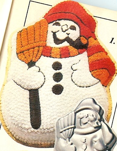Wilton Snowman with Broom and Pipe Christmas Holiday Cake Pan (502-1646, 1980)