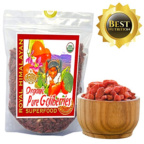 Top Nutrition - 2Lb / 32oz Royal Himalayan Raw Goji Berries - Certified Organic - Smoothies, Snacks, Salads, Trail Mixes (Organic Goji Juice compare prices)
