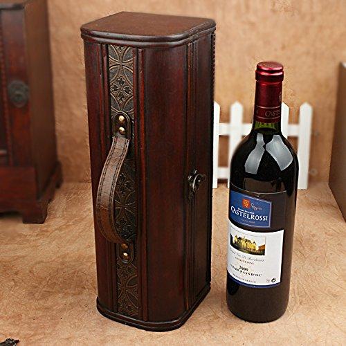 YZL/ Antique wine gift box. single skin box. wooden box wine packaging