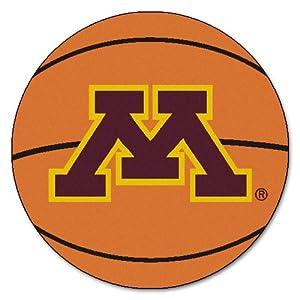 Buy FANMATS NCAA University of Minnesota Golden Gophers Nylon Face Basketball Rug by Fanmats