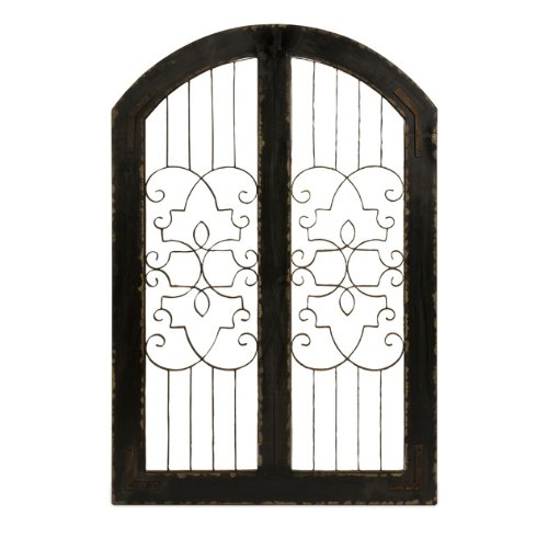 IMAX 47367 Amelia Iron & Wood Gate 0