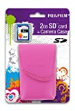 Fujifilm Z70 Premium Digital Camera Case - Pink and 2GB SD Card