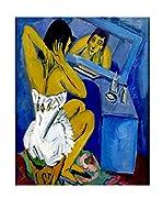 Especial Arte Lienzo Donna allo specchio - Kirchner Ernst L Multicolor
