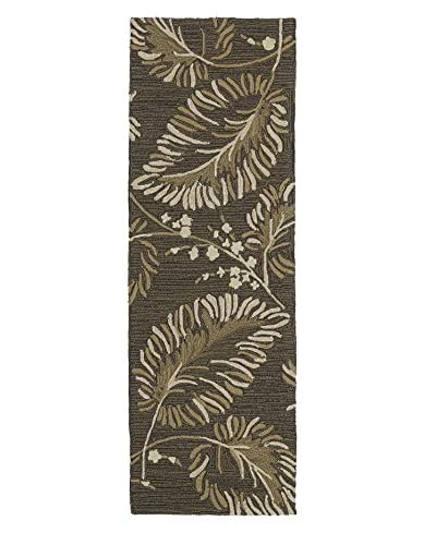 Kaleen Home & Porch Indoor/Outdoor Rug, Chocolate, 2' x 6' Runner