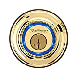 Kwikset 925 Kevo Single Cylinder Bluetooth Enabled Deadbolt for iPhone 4S and Higher in Lifetime Polished Brass