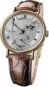 Breguet Classique Power Reserve Men's Yellow Gold Automatic Moonphase Watch 7137BA/11/9V6