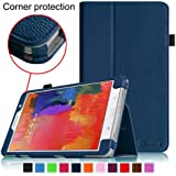 [CORNER PROTECTION] Fintie Samsung Galaxy Tab Pro 8.4 Folio Case - Slim Fit Leather Cover for TabPro 8.4-inch Tablet with Auto Sleep/Wake Feature, Navy