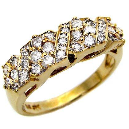.90Ct Round Diamond Ring Band 14K Yellow Gold
