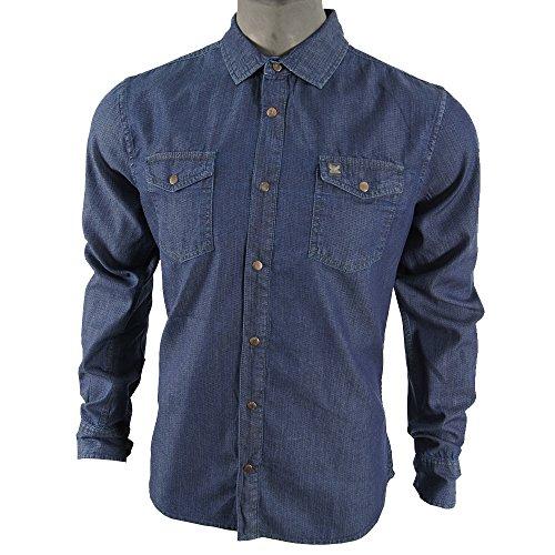 Petrol Industries Maglietta maniche lunghe blu S