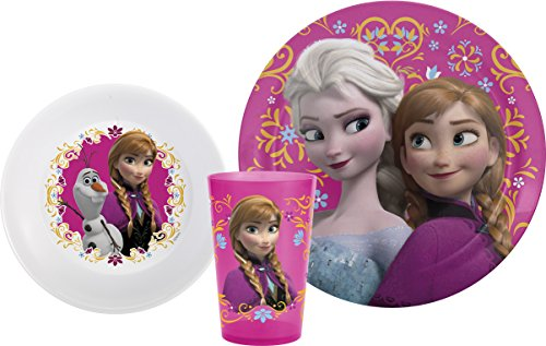 zak-designs-mealtime-set-with-plate-bowl-and-tumbler-featuring-elsa-anna-olaf-from-frozen-break-resi