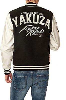 Yakuza Premium Herren Blouson-Jacke FLYING RIOTS, Farbe: Schwarz