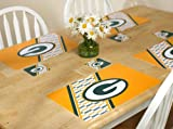 GREEN BAY PACKERS PLACEMAT AND COASTER SET at Amazon.com