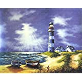 """Dolls Of India """"Lighthouse"""" Reprint On Paper - Unframed (52.70 X 40.01 Centimeters)"""