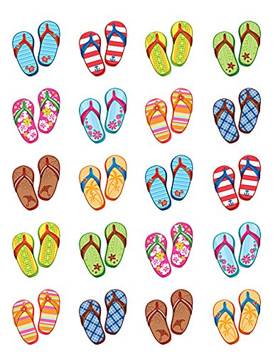 Teacher Created Resources Flip Flops Stickers (5649)