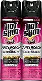 Hot Shot HG-26301 Ant and Roach Killer Plus Germ Killer Aerosol (Twin Pack), Fresh Floral Scent, 17.5 oz