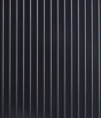 G-Floor Garage/Shop Floor Coverings - 7 1/2ft. x 17ft., Ribbed Design, Midnight Black, Model# GF717MB