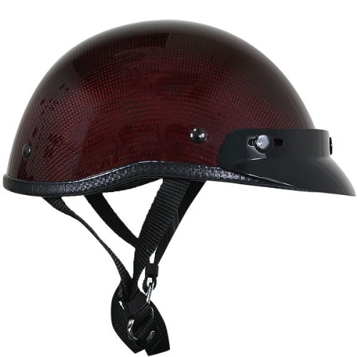 Carbon Fiber Motorcycle Helmet >> Cheap Motorcycle Helmets – Ultra Low Profile Outlaw Glossy Rosewood-Red Carbon-Fiber Motorcycle ...