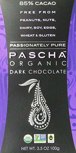 Pascha Organic Dark Chocolate 85% Cacao, 3.5 Ounce (Pack of 10)