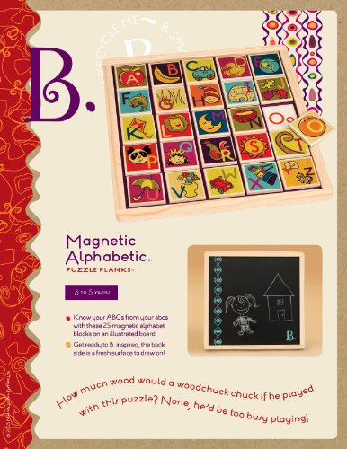 B-Toys: Magnetic Alphabet Puzzle front-666999
