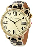 Betsey Johnson Women's BJ00032-03 Analog Leopard Printed Patent Leather Strap Watch